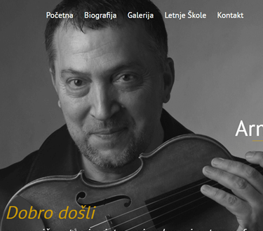Website for Armin Sešek