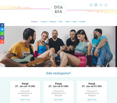 Design for Dea Dia band